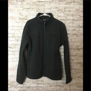 The North Face Jackets & Coats - North Face dark grey men's sweater zip up
